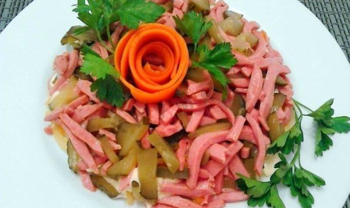 Салат обжорка рецепт пошагово с фото