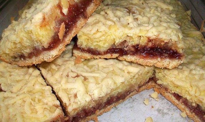 Пирог с клубничным вареньем пошаговый рецепт