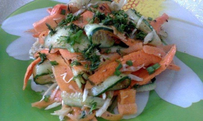 Лёгкие салаты из овощей на скорую руку с