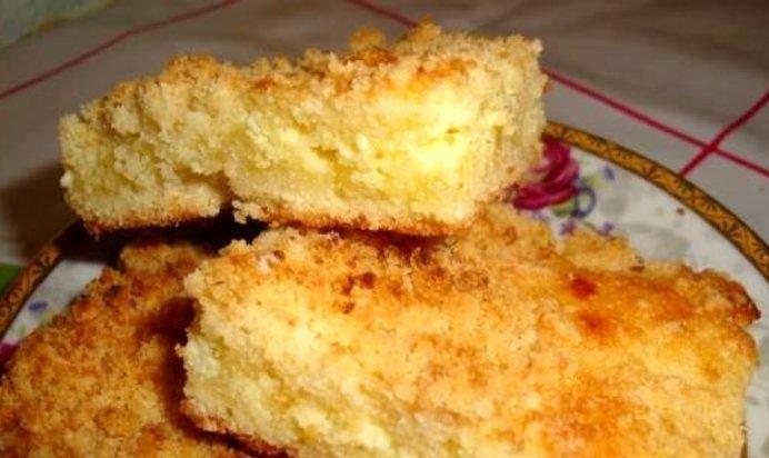 Пирог из крошки рецепт