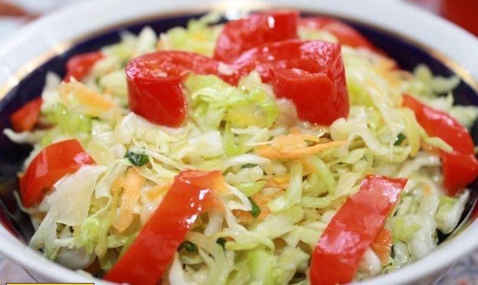 Калорийность салата из капусты и перца