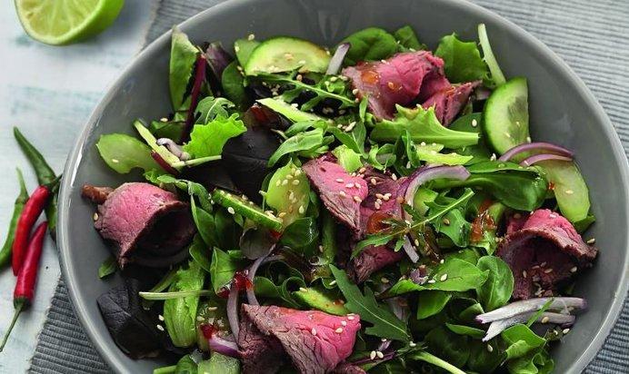 Салат с говядины рецепт с пошаговый рецепт с