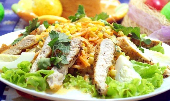 салат грудка жареные грибы