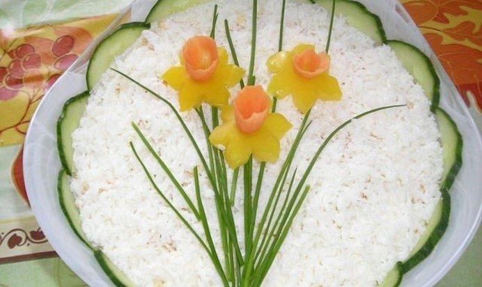 салат нарцисс рецепт фото которой открывается красивый