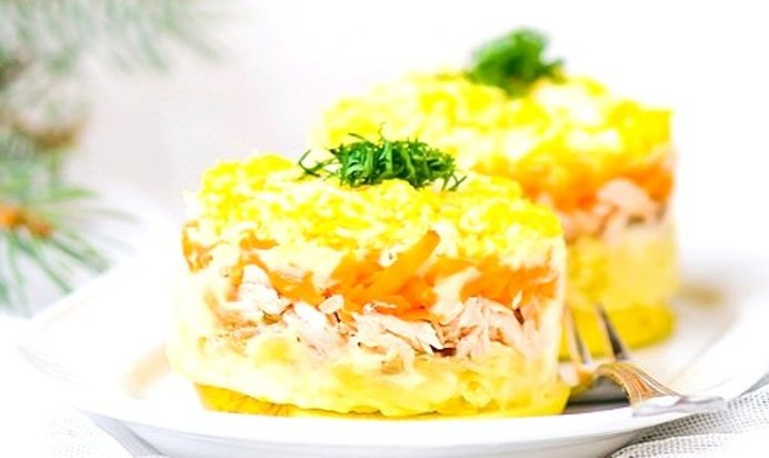 Салат мимоза рецепт с маслом и сыром рецепт с фото пошагово