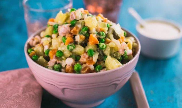 Рецепты постных салатов с фото видео