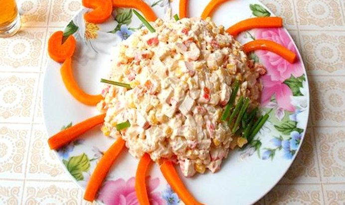 Салаты с крабовыми палочками рецепты с простые и вкусные пошаговые