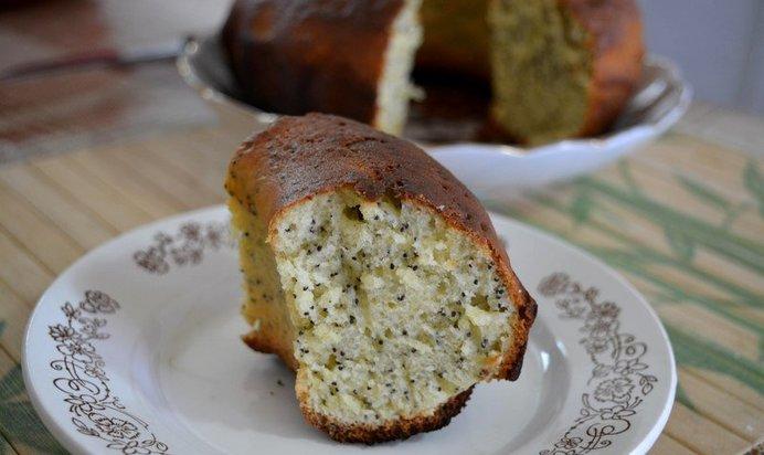 Рецепт пирога с маком на кефире