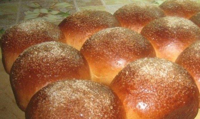 Пышные булочки с сахаром рецепт с фото