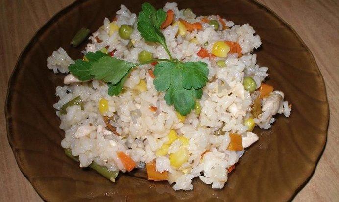 Ризотто с курицей и овощами пошаговый рецепт с фото