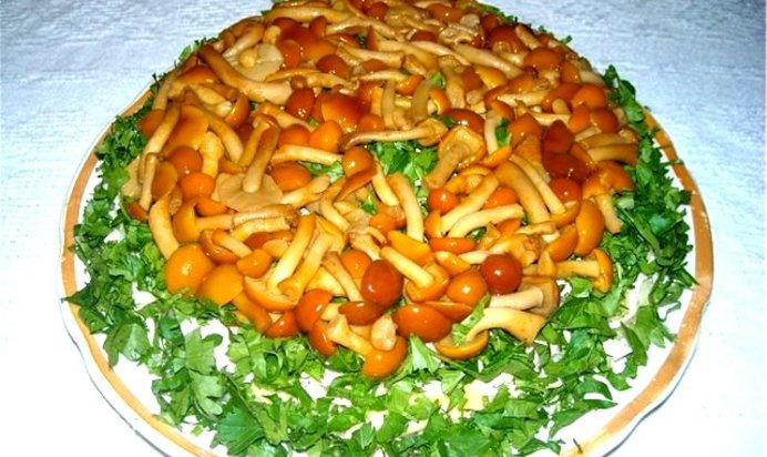 Салат поляна рецепт с