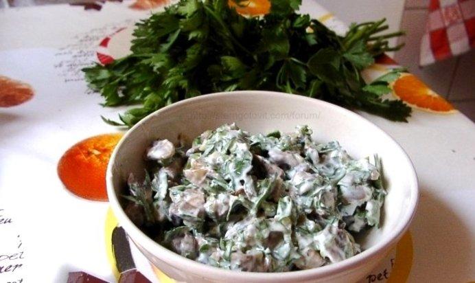 Салат из жареных шампиньонов рецепты с простые и вкусные 3