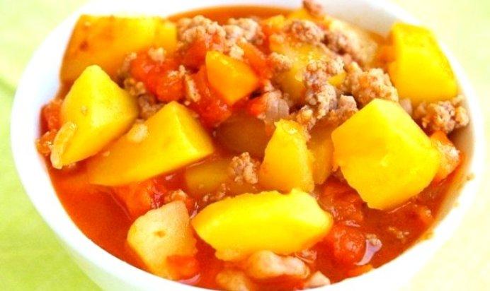 Овощное рагу с фаршем пошаговый рецепт с фото