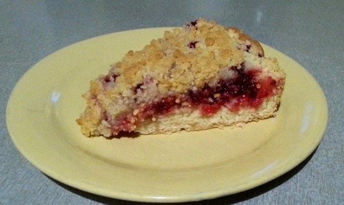 Вкусный пирог с брусникой с