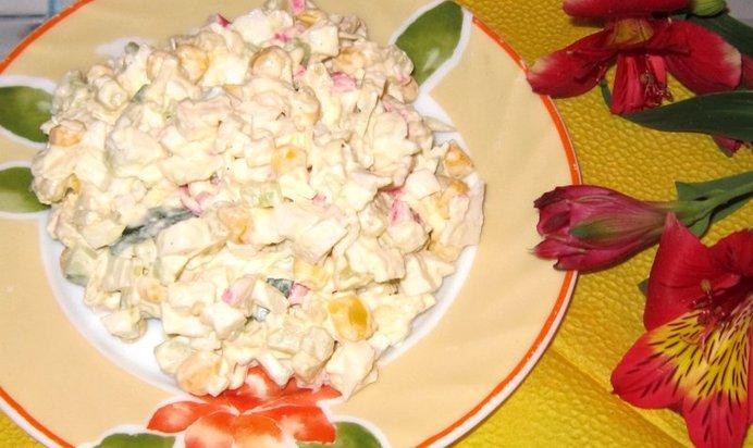 Салат крабовый рецепт пошагово с фото