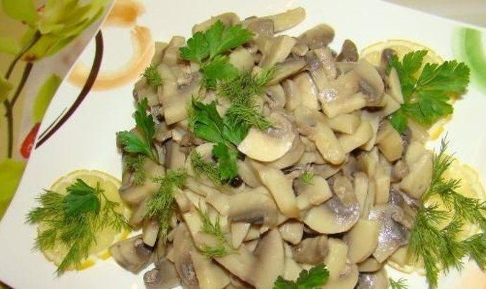 Салат грибной пошаговый рецепт фото
