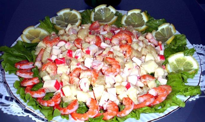 Очень вкусный салаты с креветками рецепты простые и вкусные 166