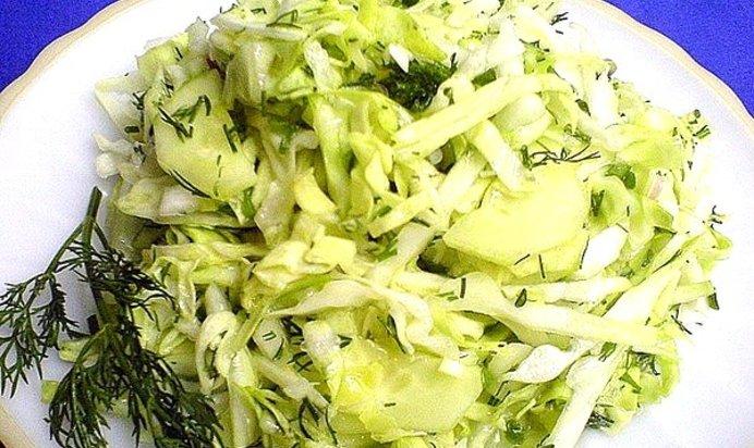 Салат капуста с яблоками рецепт пошагово