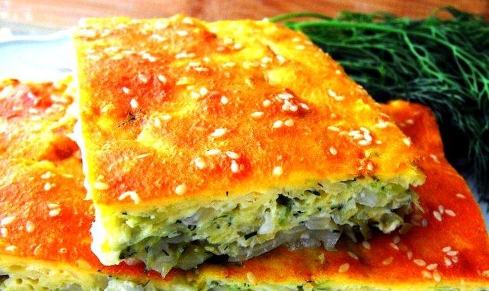 Пирог на кефире с капустой рецепт пошагово