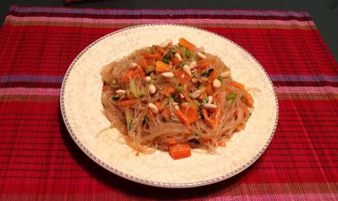 Пошаговый рецепт фунчозы с курицей и овощами с