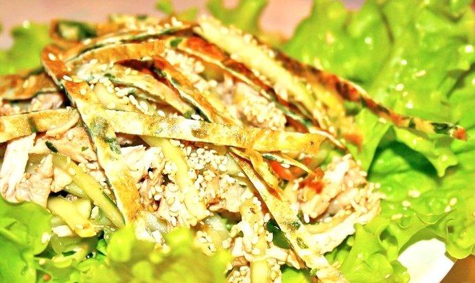Салат с кунжутом рецепт с фото
