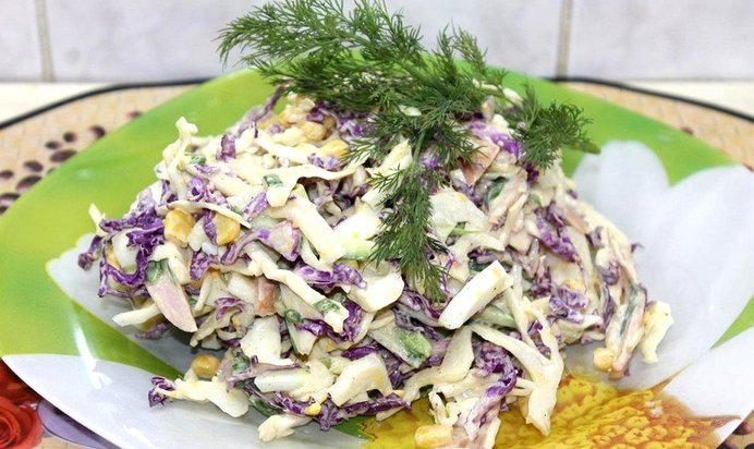 Салат зимний рецепт пошаговый рецепт