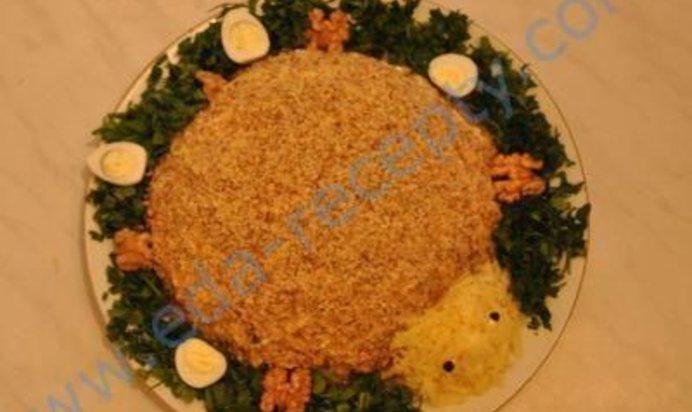 салат черепашка с пошаговыми фотографиями