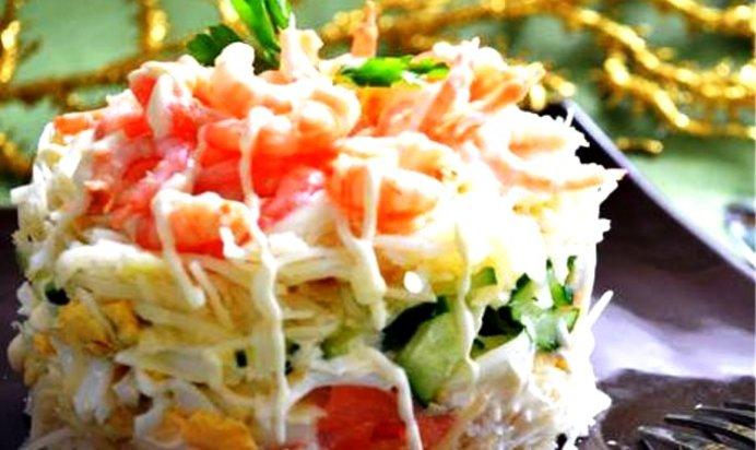 Салат слоеный с красной рыбой рецепт с