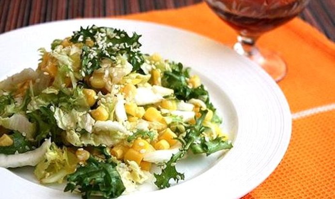 Салат с кукурузой пошаговый рецепт с с кукурузой и