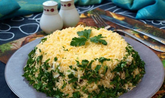Салат с шампиньонами и грибами рецепт с