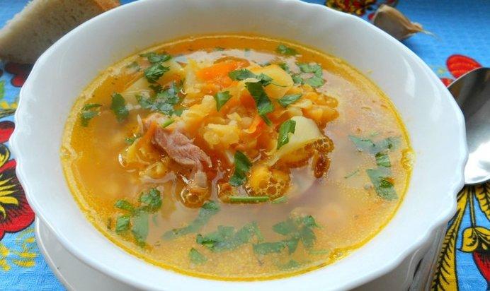 Суп с копченым окорочком рецепт с фото