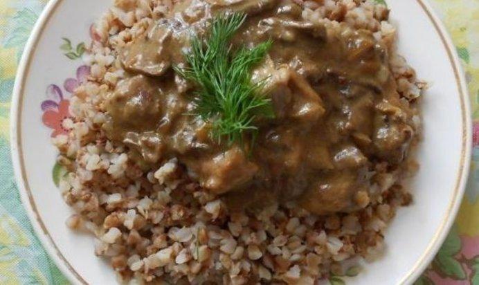 Гречка с мясной подливкой пошаговый рецепт