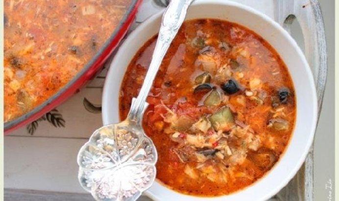 Рыбная солянка рецепт с фото пошагово
