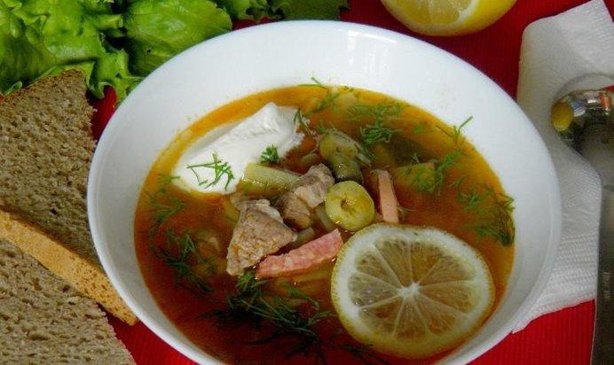 Солянка суп с оливками рецепты