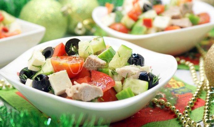 Новогдние салаты из мяса с фотографиями