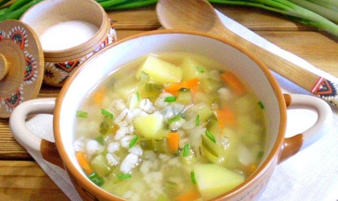 Суп рассольник с перловкой пошаговый с фото