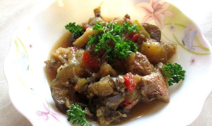 Свинина с баклажанами пошаговый рецепт с фото