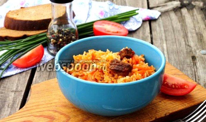 Рецепт плова с томатной пастой