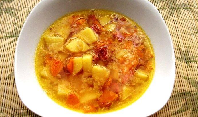 Гороховый суп с копченостями пошагово