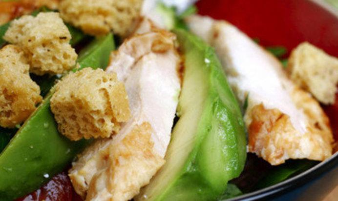 Салат цезарь с куриной грудкой пошаговый рецепт