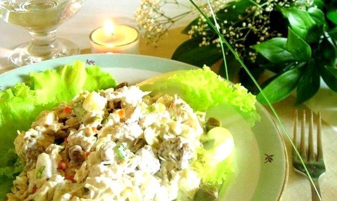 Салат с языком рецепты с простые