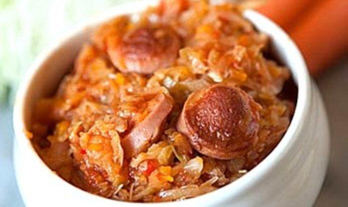 Солянка с сосисками в мультиварке пошаговый рецепт