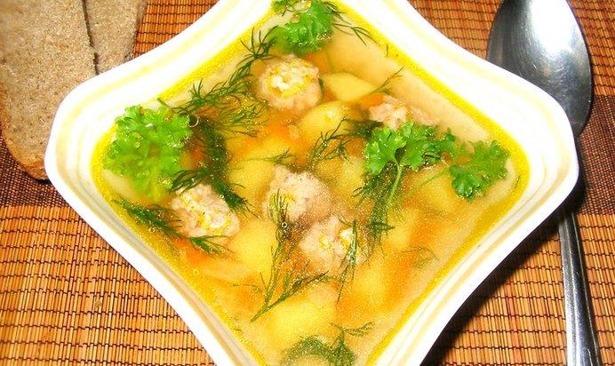 Суп с фрикадельками из индейки пошаговый рецепт