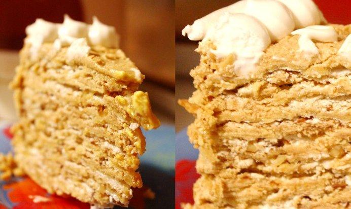 Торт с безе и орехами фото