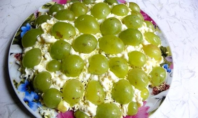 Салаты с виноградом рецепты с фото простые и вкусные