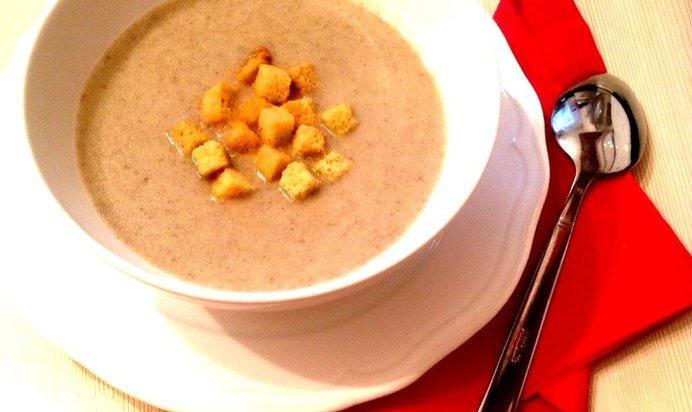 Суп с шампиньонов с фото пошагово в