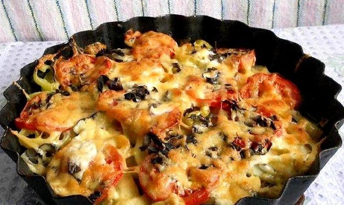 Запечённые овощи с сыром в духовке рецепт с пошагово