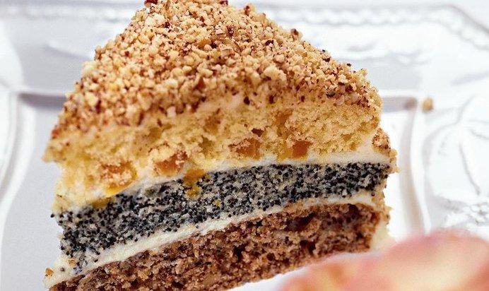 Рецепт торт сказка рецепт с орехами и маком рецепт