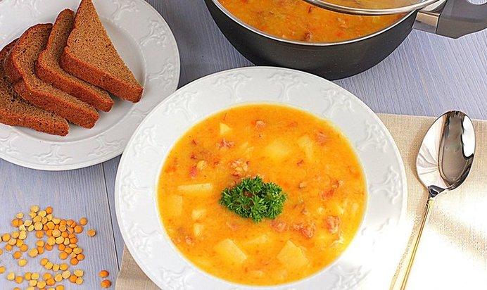 Рецепты гороховый суп с копченостями с пошагово