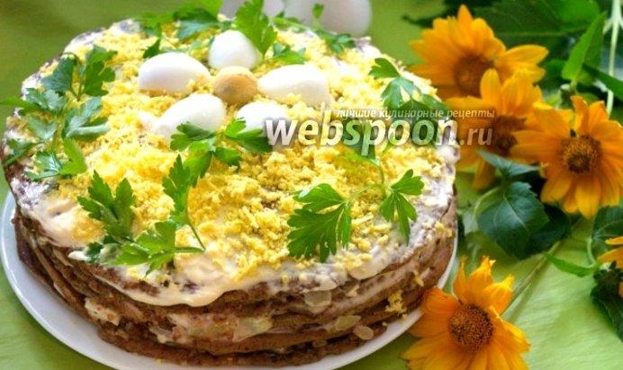 Рецепт печеночного торта из куриной печени пошагово с фото